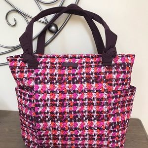 NEW Vera Bradley Hadley Tote in Houndstooth Tweed